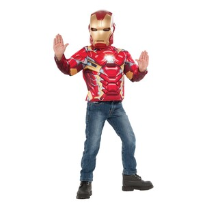 Avengers Iron Man Muscle Light Up Iron Man Top Set G31878