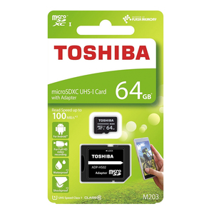 Toshiba Micro SD Card NM203K0640 64GB+Adaptor
