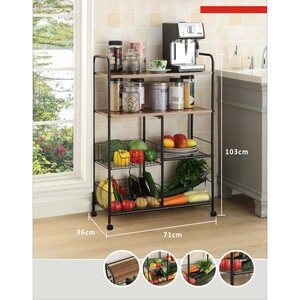 Maple Leaf Home  Multipurpose Storage Rack 5579  Size: W71 x D36 x H103cm
