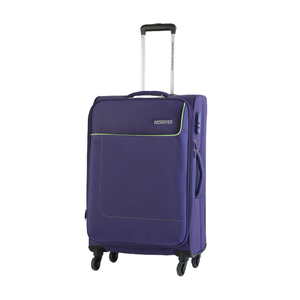 American Tourister Jamaica 4 Wheel Soft Trolley 55cm Purple Color