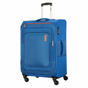American Tourister Duncan 4 Wheel Soft Trolley 55cm Blue Color
