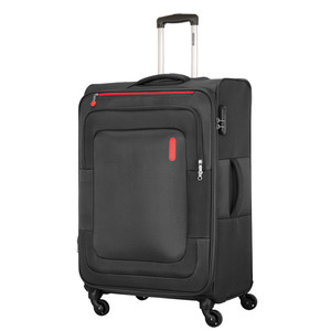 American Tourister Duncan 4 Wheel Soft Trolley 55cm Black Color