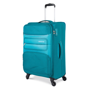 American Tourister Chelsea 4Wheel Soft Trolley 55cm Green