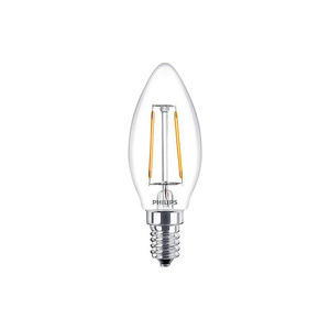 Philips LED Candle Bulb Classic 2W E14 830 Warm White