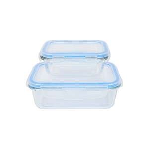 Home Glass Container 800ml + 330ml 2pcs Set