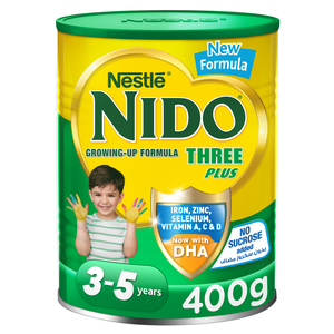 Nestle Nido Three Plus Growing Up Milk Powder For Toddlers 3-5 Years 400g