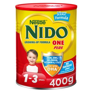 Nestle Nido One Plus growing up milk powder for toddlers 1-3 Years 400g