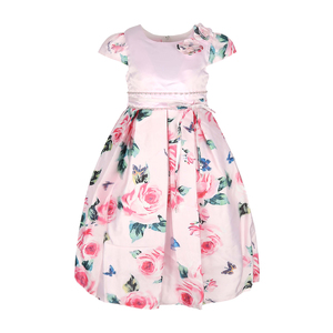 Cortigiani Girls Satin Party Frock GHUC8 2-8 Y