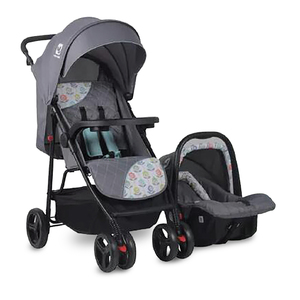 First Step Stroller With Car Seat KDDS789Z Grey