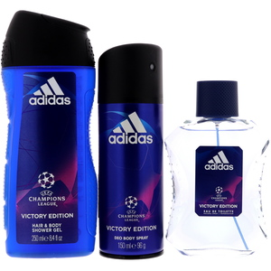 Adidas Champions League Victory Edition EDT 100ml + Deo Body Spray 150ml + Shower Gel 250ml
