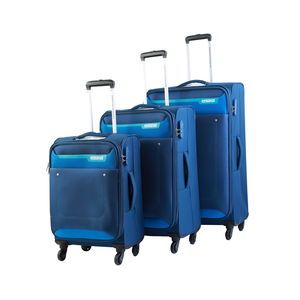 American Tourister Jackson 4 Wheel Soft Trolley 3Pcs Set Blue