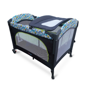 First Step Baby PlayPen KD-960-H Grey-Green