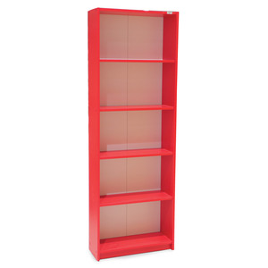Maple Leaf Home Bookshelf 5 Layer Red Color