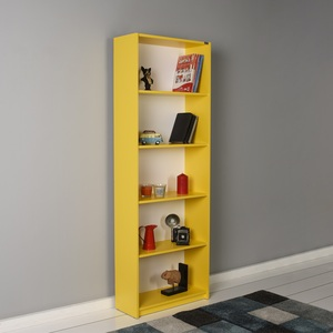 Maple Leaf Home Book Shelf 5 Layer Yellow Size: H170 x W 58 x D23cm Made In Turkey