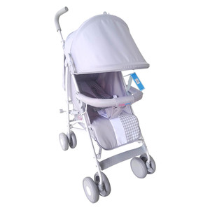 First Step Baby Buggy Stroller B-818 Light Grey