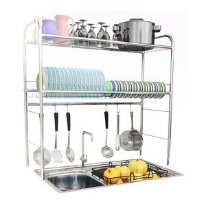 Home Sink Dish Rack 2 Layer S-071-2