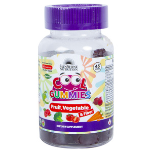 Sunshine Nutrition Cool Gummies Fruit, Vegetable & Fiber 45pcs
