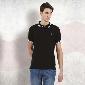 Cortigiani Men's Basic Polo Short Sleeve Black