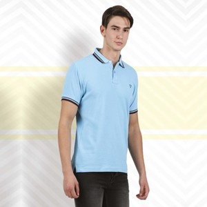 Cortigiani Men's Basic Polo Short Sleeve Blue