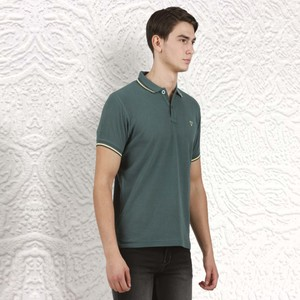 Cortigiani Men's Basic Polo Short Sleeve Green