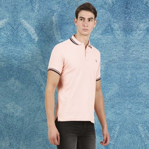 Cortigiani Men's Basic Polo Short Sleeve Coral