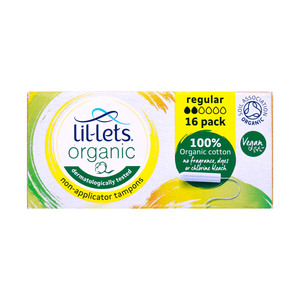 Lil-Lets Organic Non-Applicator Tampons Regular 16pcs