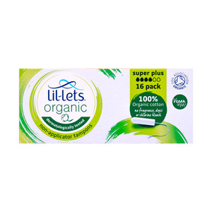 Lil-Lets Organic Non-Applicator Tampons Super Plus 16pcs