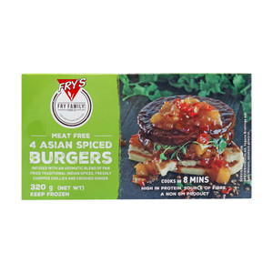 Fry's Family Meat Free 4 Asian Spiced Burgers 320g