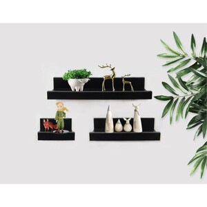 Maple Leaf U-Shape Wall Shelf Plastic 3pcs Set HA7