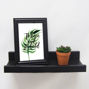 Maple Leaf Wall Shelf With Frame&Plant HA8