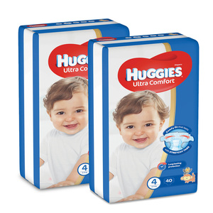 Huggies Ultra Comfort Diapers Size 4 Large 8-14kg 2 x 40pcs