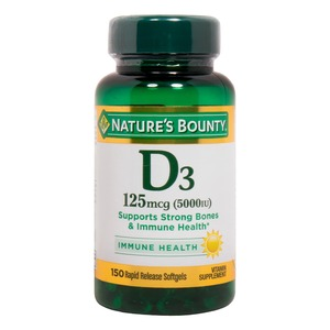 Nature's Bounty D3 125mcg Soft Gels 150pcs