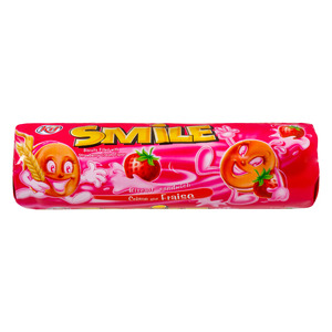Smile Cream Biscuit with Strawberry Flavor 190g