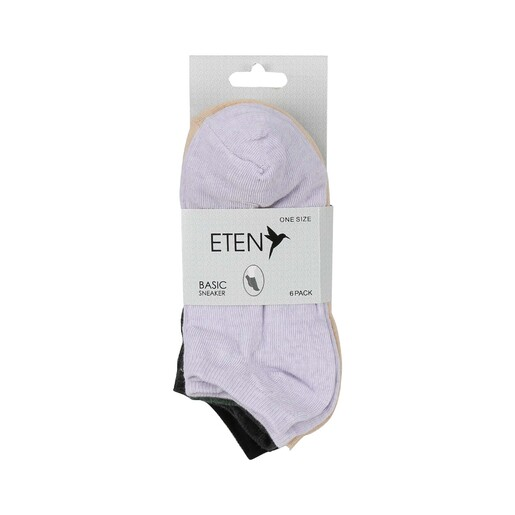 Eten Women's 6Pcs Socks Assorted Colors MS08 Free Size