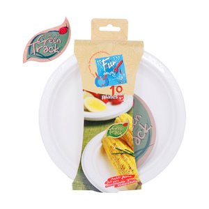 Fun Paper Plates Biodegradable 9inches 10pcs