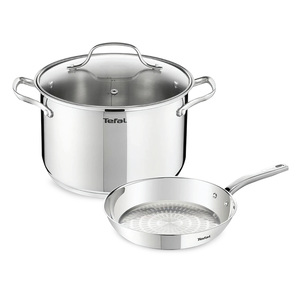 Tefal Intuition Stainless Steel Dutch Oven 24cm + Fry Pan 28cm