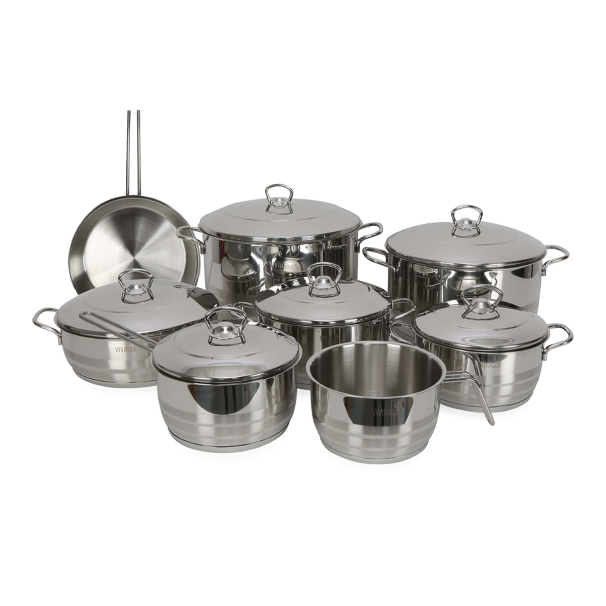 Vivaldi Stainless Steel Cookware Set 14pcs 0725