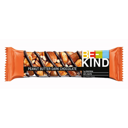 Be Kind Dark Peanut Butter Dark Chocolate Nut Bar 40g