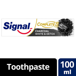 Signal Complete 8 Anti-Bacterial Charcoal Toothpaste White & Detox 100ml