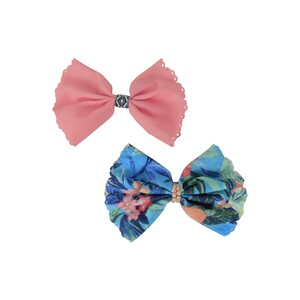 Eten Hair Bow Plain-Printed 2Pcs