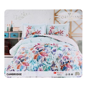 Cortigiani Comforter 4pcs Set Digital Print Cotton Assorted Colors & Designs