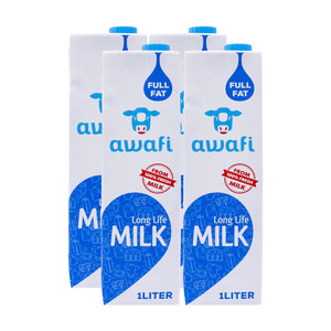 Awafi Full Fat Long Life Milk 1Litre