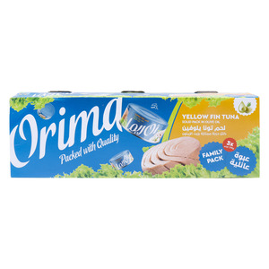 Orima Yellow Fin Tuna Solid Pack in Olive Oil 3 x 170g