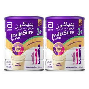 Pediasure Complete And Balanced Nutrition Vanilla Powder 3 +  3-10 Years  2 x 900g