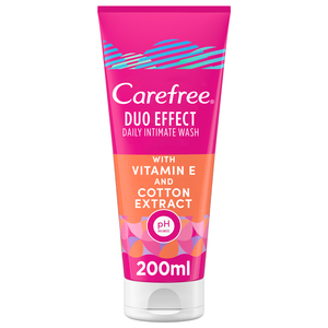 Carefree Daily Intimate Wash Duo Effect with Vitamin E and Cotton Extract 200ml