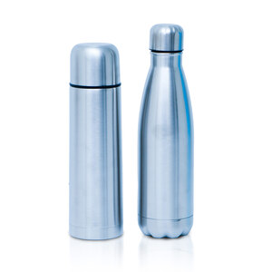 Speed Stainless Steel Flask 500ml + Stainless Steel Vacuum Bottle 500ml Assorted Color