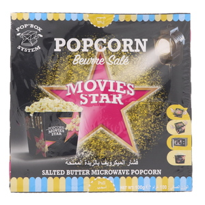 Movies Star Salted Butter Microwave Popcorn 100g