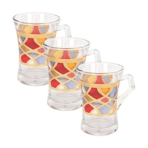 Home Glass Cup 00523-FGB 3pcs