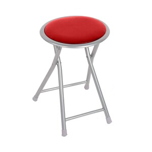 Maple Leaf Folding Stool Red BS-120-B