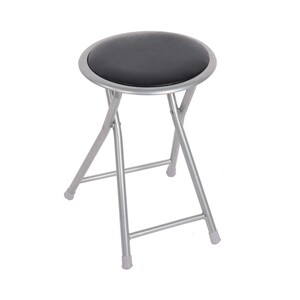Maple Leaf Foldng Stool Black BS-120-B
